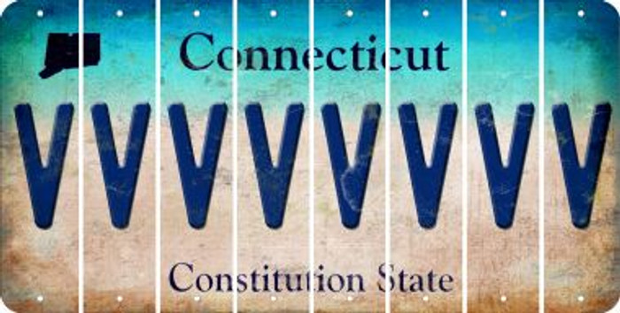 Connecticut V Cut License Plate Strips (Set of 8) LPS-CT1-022