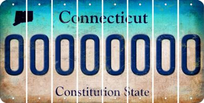 Connecticut 0 Cut License Plate Strips (Set of 8) LPS-CT1-027