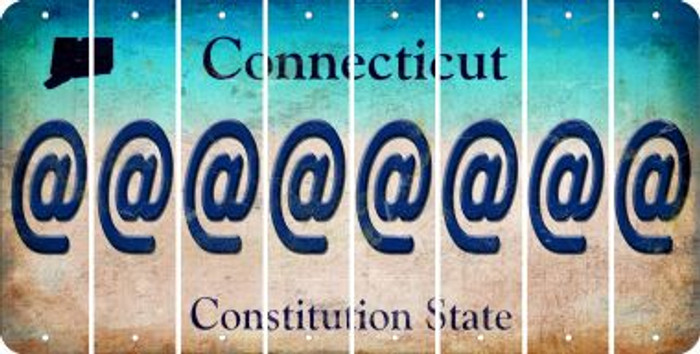 Connecticut ASPERAND Cut License Plate Strips (Set of 8) LPS-CT1-039
