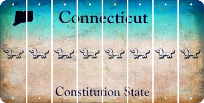 Connecticut DOG Cut License Plate Strips (Set of 8) LPS-CT1-073