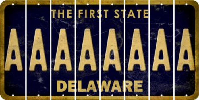 Delaware A Cut License Plate Strips (Set of 8) LPS-DE1-001