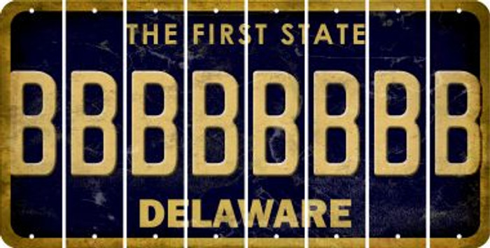 Delaware B Cut License Plate Strips (Set of 8) LPS-DE1-002