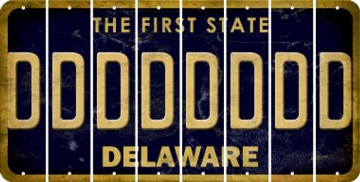 Delaware D Cut License Plate Strips (Set of 8) LPS-DE1-004