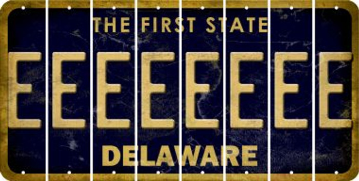 Delaware E Cut License Plate Strips (Set of 8) LPS-DE1-005