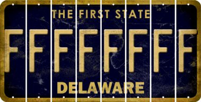 Delaware F Cut License Plate Strips (Set of 8) LPS-DE1-006
