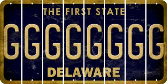Delaware G Cut License Plate Strips (Set of 8) LPS-DE1-007