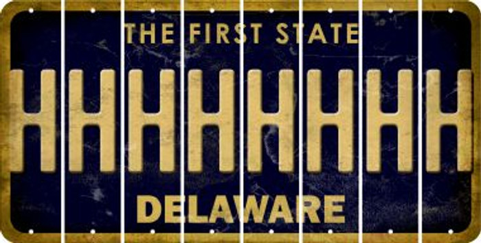 Delaware H Cut License Plate Strips (Set of 8) LPS-DE1-008