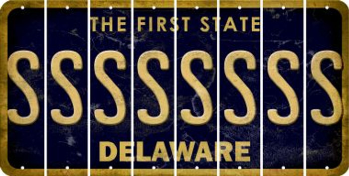 Delaware S Cut License Plate Strips (Set of 8) LPS-DE1-019