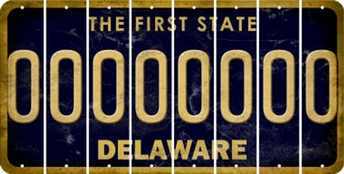 Delaware 0 Cut License Plate Strips (Set of 8) LPS-DE1-027