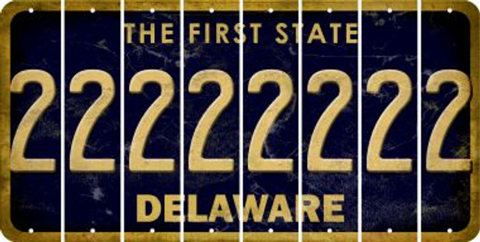 Delaware 2 Cut License Plate Strips (Set of 8) LPS-DE1-029