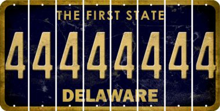 Delaware 4 Cut License Plate Strips (Set of 8) LPS-DE1-031