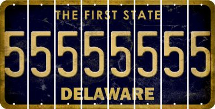 Delaware 5 Cut License Plate Strips (Set of 8) LPS-DE1-032