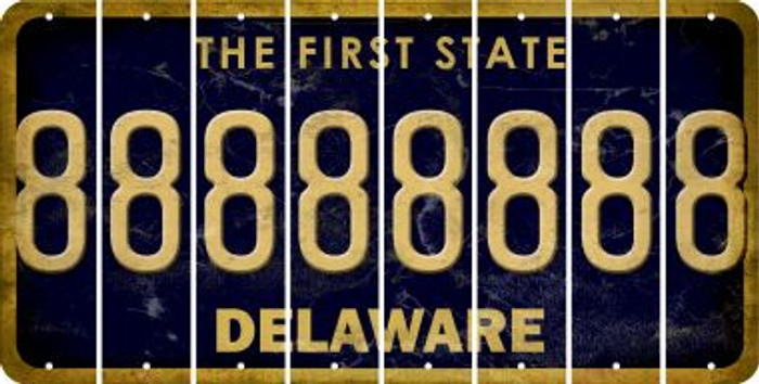 Delaware 8 Cut License Plate Strips (Set of 8) LPS-DE1-035