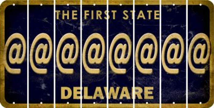 Delaware ASPERAND Cut License Plate Strips (Set of 8) LPS-DE1-039