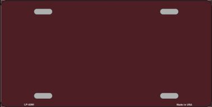 Burgundy Background Wholesale Metal Novelty License Plate LP-4260