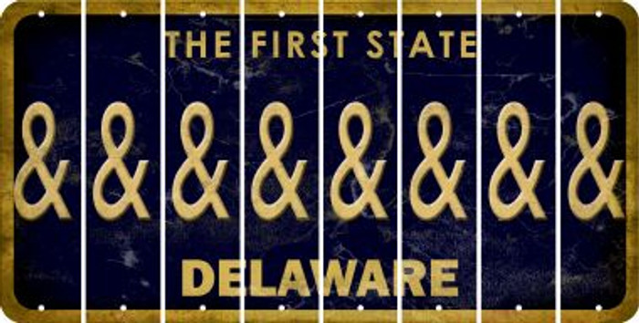 Delaware AMPERSAND Cut License Plate Strips (Set of 8) LPS-DE1-049