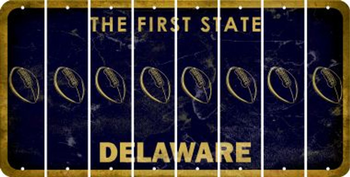 Delaware FOOTBALL Cut License Plate Strips (Set of 8) LPS-DE1-060