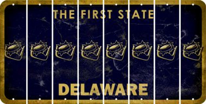 Delaware HOCKEY Cut License Plate Strips (Set of 8) LPS-DE1-062