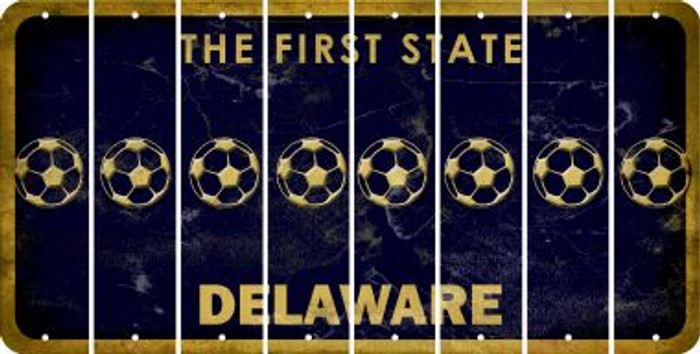 Delaware BASEBALL / SOFTBALL Cut License Plate Strips (Set of 8) LPS-DE1-063