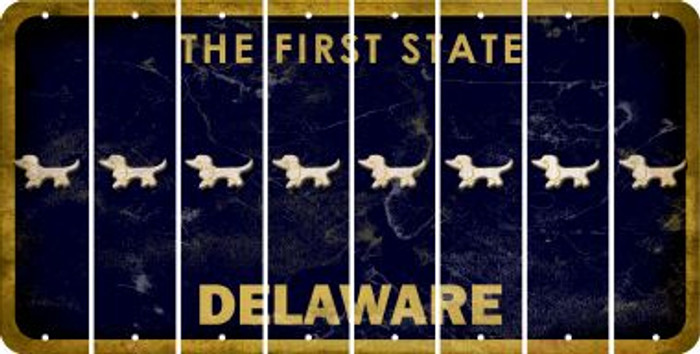 Delaware DOG Cut License Plate Strips (Set of 8) LPS-DE1-073