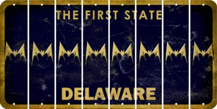 Delaware BAT Cut License Plate Strips (Set of 8) LPS-DE1-074