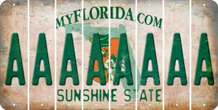 Florida A Cut License Plate Strips (Set of 8) LPS-FL1-001