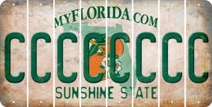 Florida C Cut License Plate Strips (Set of 8) LPS-FL1-003