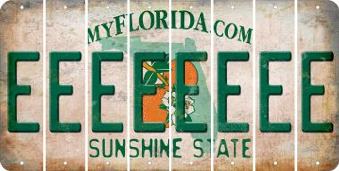 Florida E Cut License Plate Strips (Set of 8) LPS-FL1-005