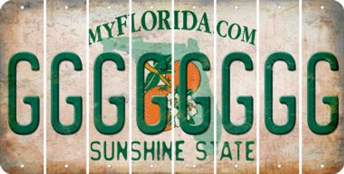 Florida G Cut License Plate Strips (Set of 8) LPS-FL1-007