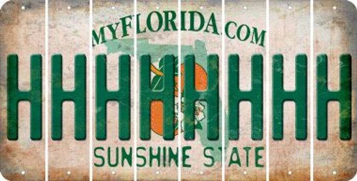 Florida H Cut License Plate Strips (Set of 8) LPS-FL1-008
