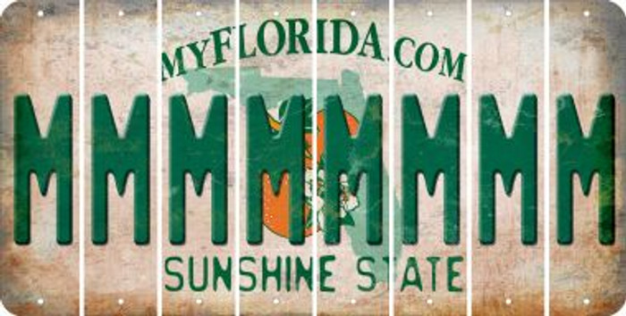 Florida M Cut License Plate Strips (Set of 8) LPS-FL1-013