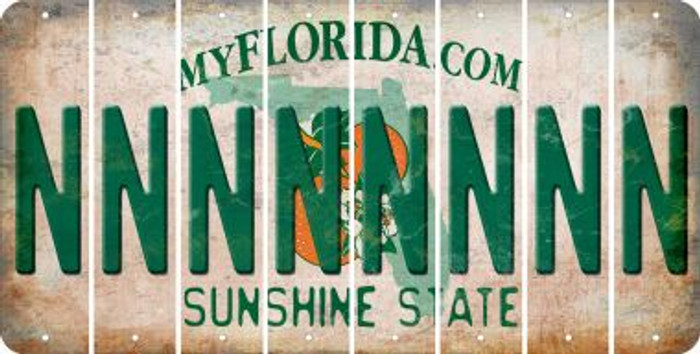 Florida N Cut License Plate Strips (Set of 8) LPS-FL1-014