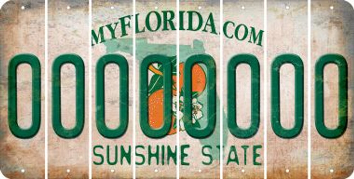 Florida O Cut License Plate Strips (Set of 8) LPS-FL1-015