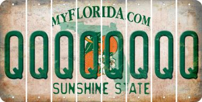 Florida Q Cut License Plate Strips (Set of 8) LPS-FL1-017