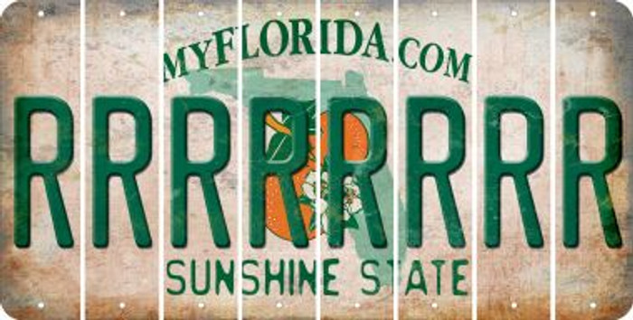Florida R Cut License Plate Strips (Set of 8) LPS-FL1-018