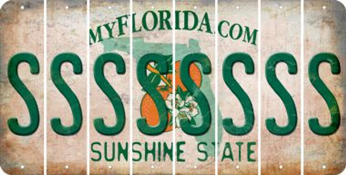 Florida S Cut License Plate Strips (Set of 8) LPS-FL1-019
