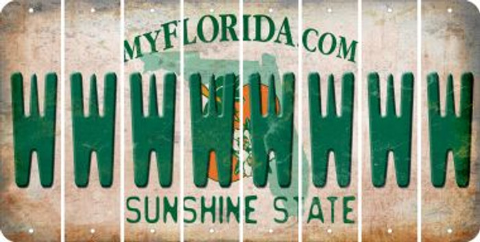 Florida W Cut License Plate Strips (Set of 8) LPS-FL1-023