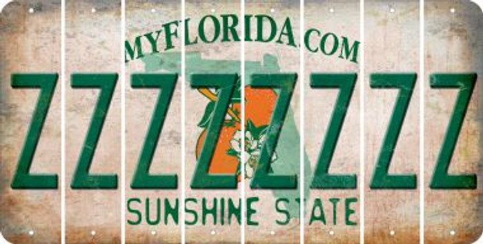 Florida Z Cut License Plate Strips (Set of 8) LPS-FL1-026