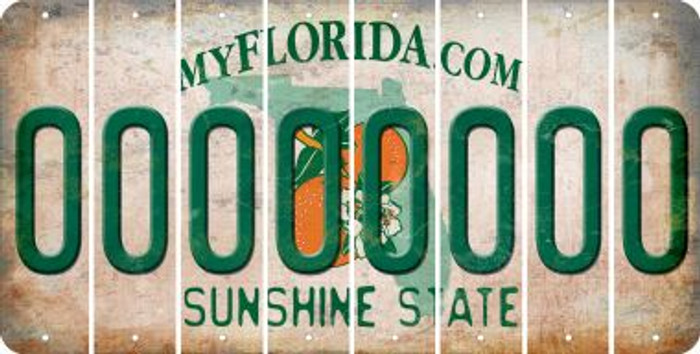 Florida 0 Cut License Plate Strips (Set of 8) LPS-FL1-027