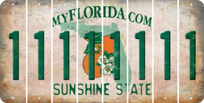 Florida 1 Cut License Plate Strips (Set of 8) LPS-FL1-028