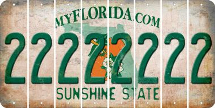 Florida 2 Cut License Plate Strips (Set of 8) LPS-FL1-029