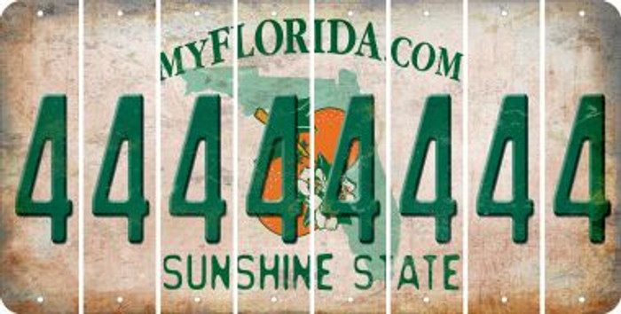 Florida 4 Cut License Plate Strips (Set of 8) LPS-FL1-031