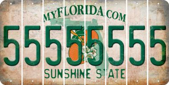 Florida 5 Cut License Plate Strips (Set of 8) LPS-FL1-032