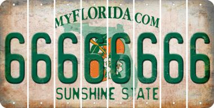 Florida 6 Cut License Plate Strips (Set of 8) LPS-FL1-033
