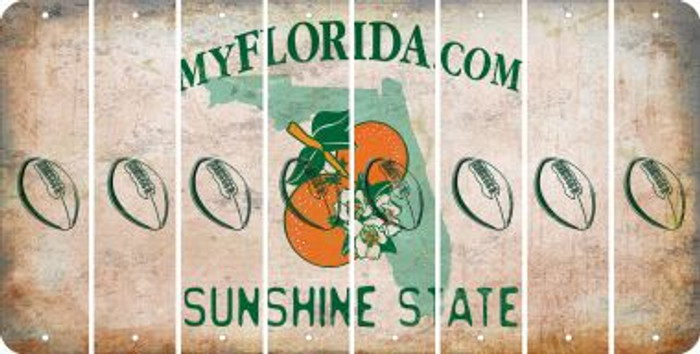 Florida FOOTBALL Cut License Plate Strips (Set of 8) LPS-FL1-060