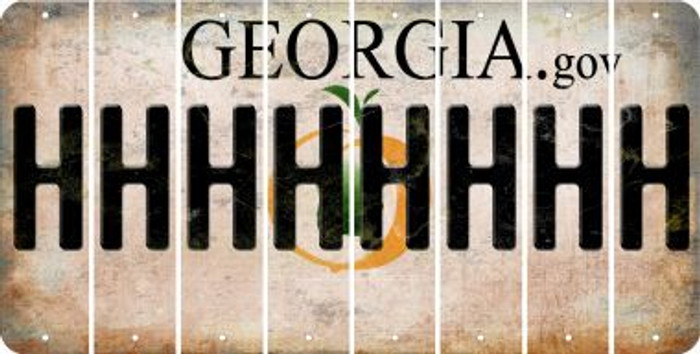 Georgia H Cut License Plate Strips (Set of 8) LPS-GA1-008