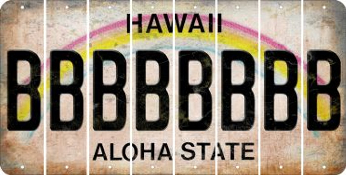 Hawaii B Cut License Plate Strips (Set of 8) LPS-HI1-002