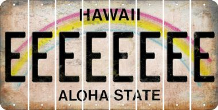 Hawaii E Cut License Plate Strips (Set of 8) LPS-HI1-005