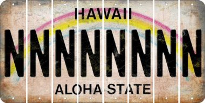 Hawaii N Cut License Plate Strips (Set of 8) LPS-HI1-014