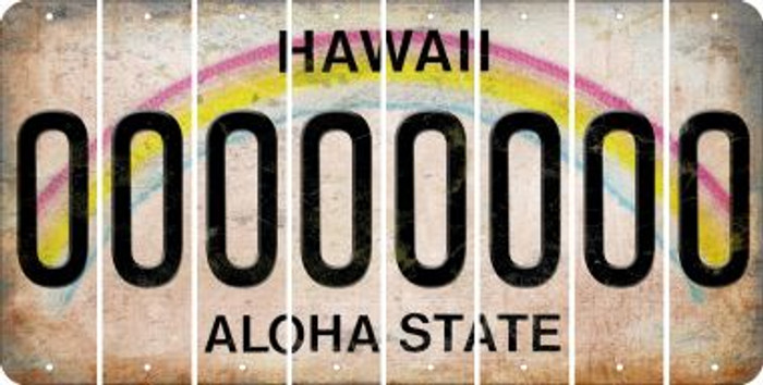 Hawaii O Cut License Plate Strips (Set of 8) LPS-HI1-015
